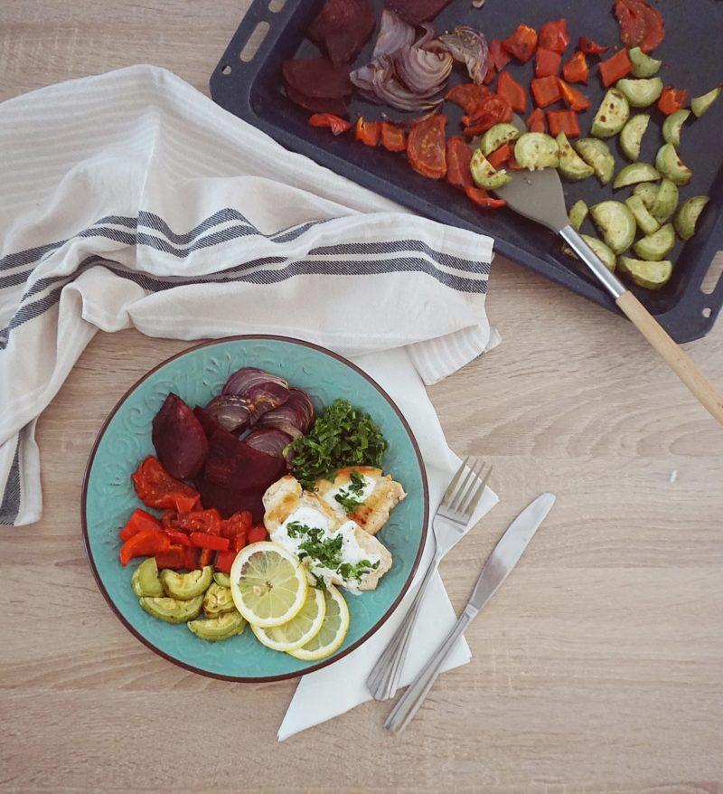 Pui la grătar cu legume Papakit Meniu